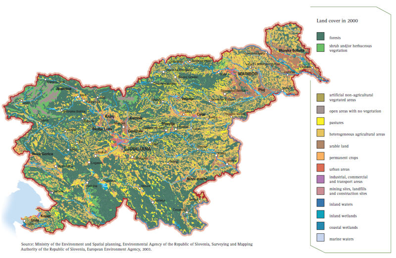 Land cover in Slovenia
