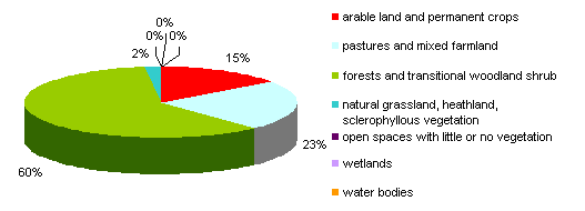 Categories of cover sealed urban and other artificial surfaces (1996–2006)